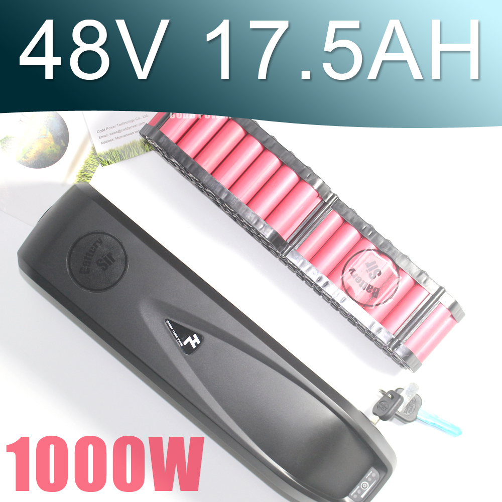 48V Sanyo GA Battery Pack 17.5AH Electric bike lithium ion battery for 1000W