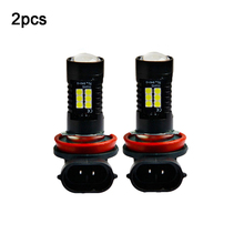 2pcs High Power Driving Lamp Signal Fog Lighs 12V 21W  H11 3030 21SMD LED Auto Car Fog Light Bulb 6000K White Light Projector цена 2017