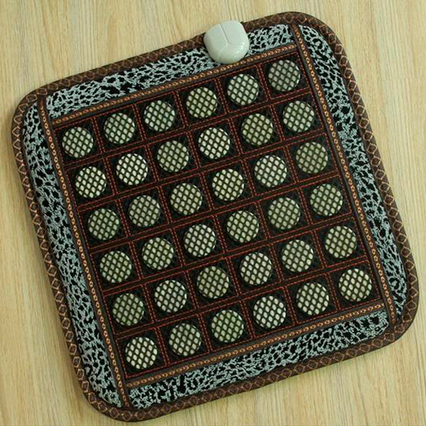 Best Selling New Arrival Jade Cushion Tourmaline Heated Mat Electric Seat Cushion Chair Massage Cushion 45X45CM Free Shipping цены онлайн