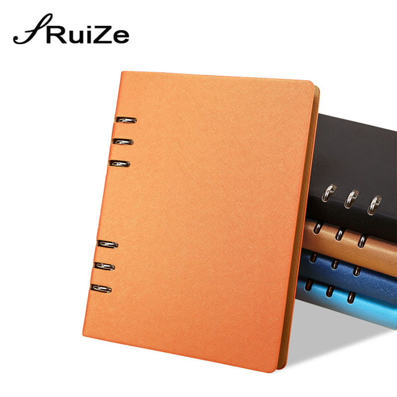 RuiZe Hard Cover Leather Spiral Notebook Agenda 2020 Ring Binder Daily Planner Notepad A5 A6 B5 Office Note Book Stationery