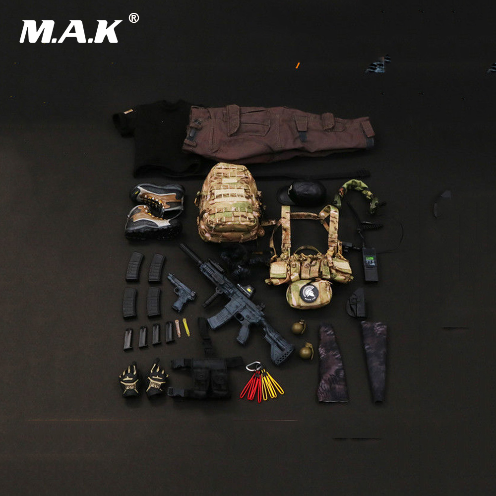 1/6 Scale Male Clothes Set PMC Private Military Contractor Combat Set Weapon Toys for 12 Man Action Figure