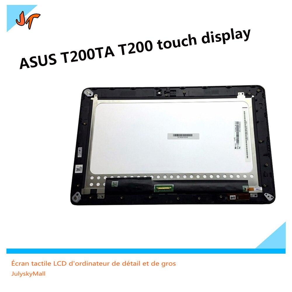 Pełny ekran LCD panel wyświetlacza do Asus Transformer Book T200TA T200 tablet z ekranem dotykowym szkła wraz z ramą w Ekrany LCD i panele do tabletów od Komputer i biuro na AliExpress - 11.11_Double 11Singles' Day 1
