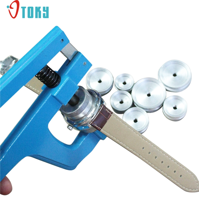 Excellent Quality Watch Back Closer Watchmaker Press Set Repair Tool Wathes Case Crystal Glass Press Set Repair Kit Tools