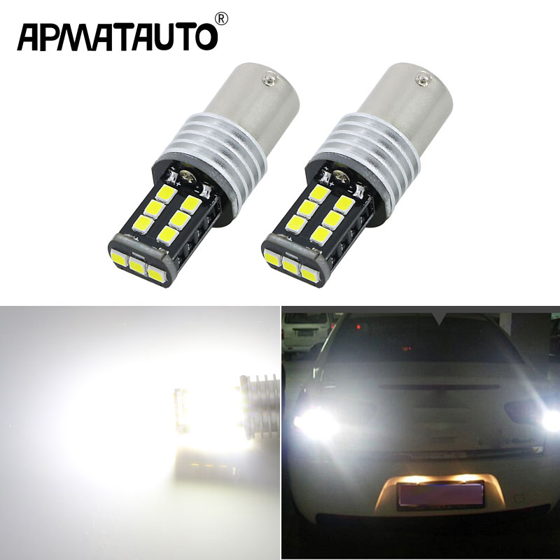 Apmatauto 2x <font><b>LED</b></font> Bulbs For Backup Reverse Light R5 1156 p21w ba15s with Samsung chips for Citroen <font><b>C2</b></font> C3 C4 C8 Elysee Picasso ZX