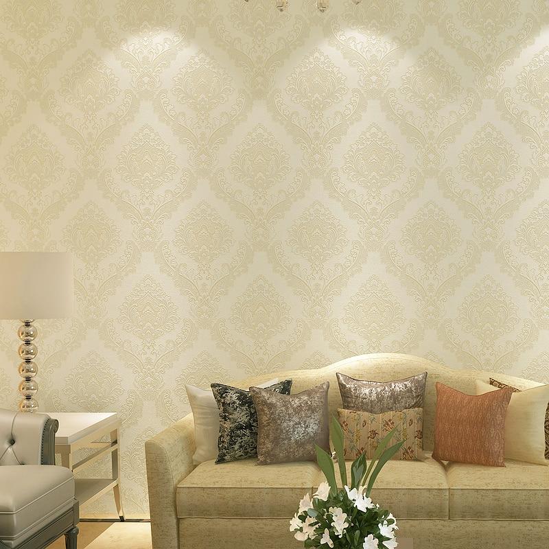 Elegant Cream Hallway With Damask Wallpaper: Aliexpress.com : Buy European Classic Elegant Textured