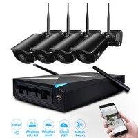 Системы видеонаблюдения вайфай комплект видеонаблюдения безопасности камера системы 4 канала 1080 P видео регистраторы CCTV NVR Мп 2,0 wi fi сети бес...