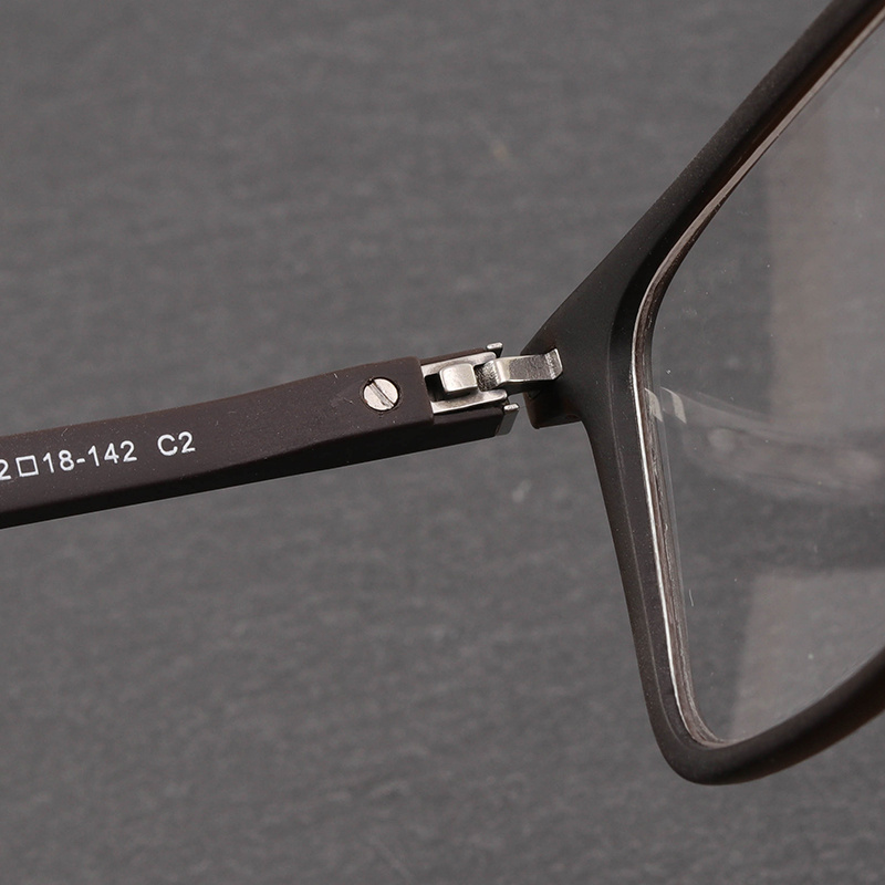 1417048a21f TR90 Eyewear Frame Myopia Computer Optical Prescription Clear Eye Glasses  Frames For Men Fashion Rivet Brand Design  88009-in Eyewear Frames from  Apparel ...
