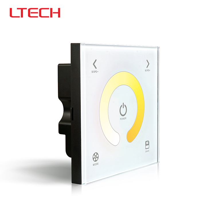 ФОТО DX2 color temperature touch panel led controller,AC100-240V input,RF 2.4G+DMX512 output signal for R4-5A R4-CC Wireless receiver