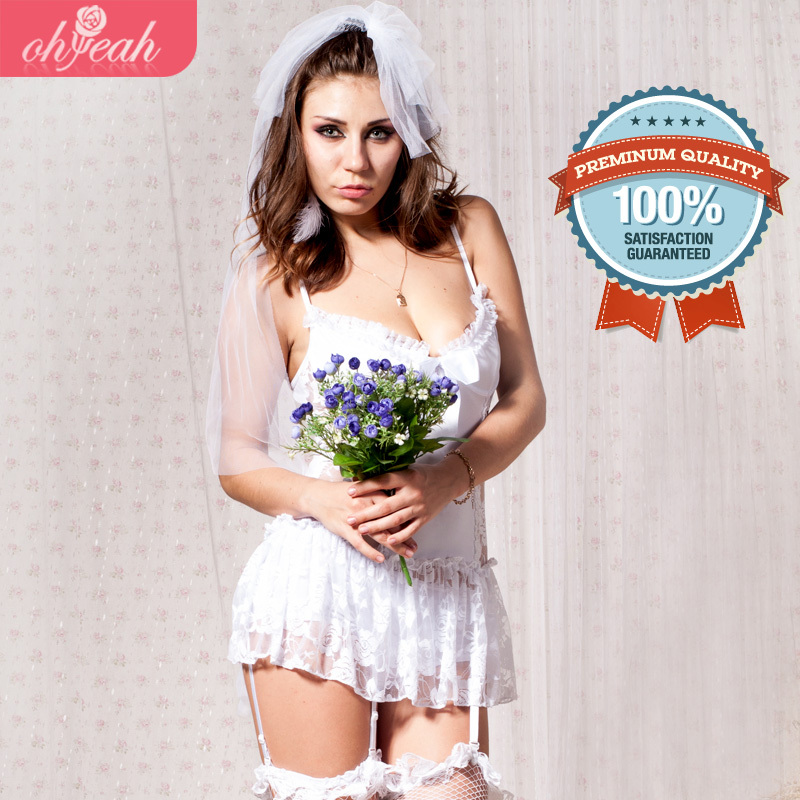 Babydoll Sexy Underwear Plus Size S-5xl Lovely Bride Lace Lingeries Sexy Woman Costume Good Quality Best Choose Bridal Lingerie