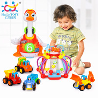 Happy Small World Functions & Skills Learning Toys & Swing Goose Musical Educational Toy &Beach Baby Toy Pull Back Cars Playing