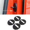 Door Lock Cover Protector Cover For Mitsubishi Outlander 2006 2007 2008 2009 2010 2011 2012 For Pajero Plastic 4pcs car styling