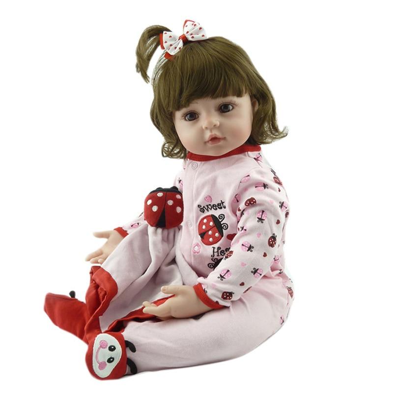 все цены на New 55cm Hot Sale New Dolls Victoria Adora Lifelike Newborn Baby Bonecas Baby Kid Toy Girl Cotton Body Silicone Reborn Baby Doll онлайн
