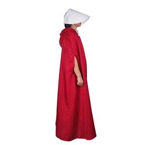 Image 5 - Костюм горничной для косплея, длинное платье, накидка, Хэллоуин, карнавал, женская шапка с красной накидкой, полный Вечерние, вечерний костюм