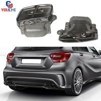 304 Stainless Steel Exhaust Tips 4 outlet End Pipe for Mercedes A W176 CLA Class W117 GLA X156 with AMG Package 2013 +