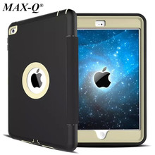 For Apple iPad mini 4 Retina Kids Safe Armor Shockproof Heavy Duty PU+TPU+PC Hard Case Cover free Screen Protector Film