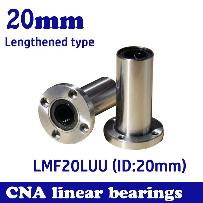 2pcs LMF20LUU flange long type  linear bushing linear bearing CNC part