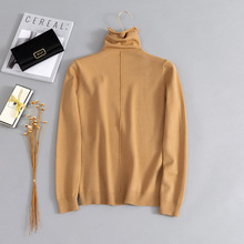 Turtleneck Basic Sweaters Women Knitting Tops Long Sleeve Bottoming Knitted Tees White Khaki Red Pullovers Female Pull Mujers