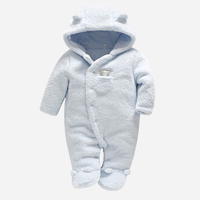 4f4b4a833f040 placeholder Winter Newborn Baby Clothes Bear Onesie Coral Velvet Baby  Rompers Hooded Jumpsuit Overalls Baby Warm Boy