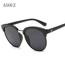 2019 new fashion ladies sunglasses classic brand design oval mens glasses UV400 transparent crystal driving sports goggles