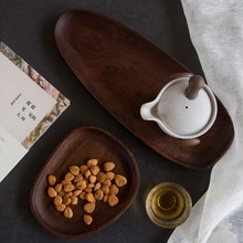 Wooden Entire Dessert Plates Irregular The Afternoon Tea Dishes Solid Wood Creativity Tableware Small Coffee Wood Plate