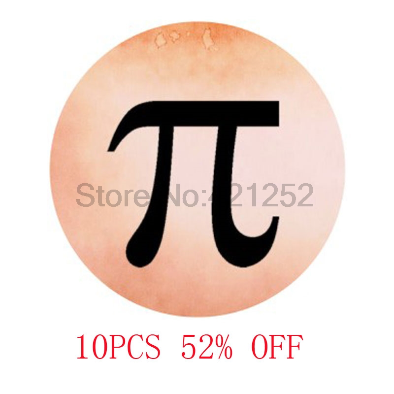 Pi Maths glass cabochon necklace keyring bookmark cufflink earring ...