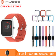Mijobs 20mm Silicone Wrist Strap Bracelet Wristband Protector Case Cover Bumper for Xiaomi Huami Amazfit GTS Bip BIT Smart Watch mijobs 20mm silicone wrist strap protective case cover plastic pc shell for huami xiaomi amazfit bip bit pace lite smart watch