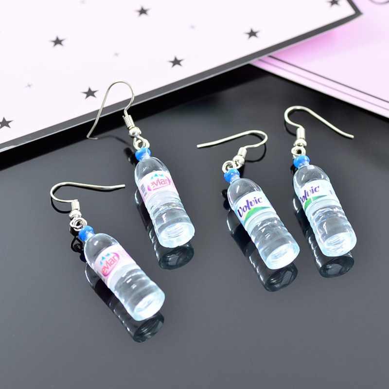 בעבודת יד Creative סימולציה של בקבוקי מים מינרליים עגילים חמוד עגילי נשים Drop עגילים סיטונאי