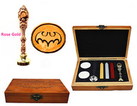 Vintage Batman Bat Custom Luxury Wax Seal Sealing Stamp Brass Peacock Metal Handle Sticks Melting Spoon