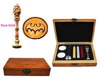Vintage Batman Bat Custom Luxury Wax Seal Sealing Stamp Brass Peacock Metal Handle Sticks Melting Spoon