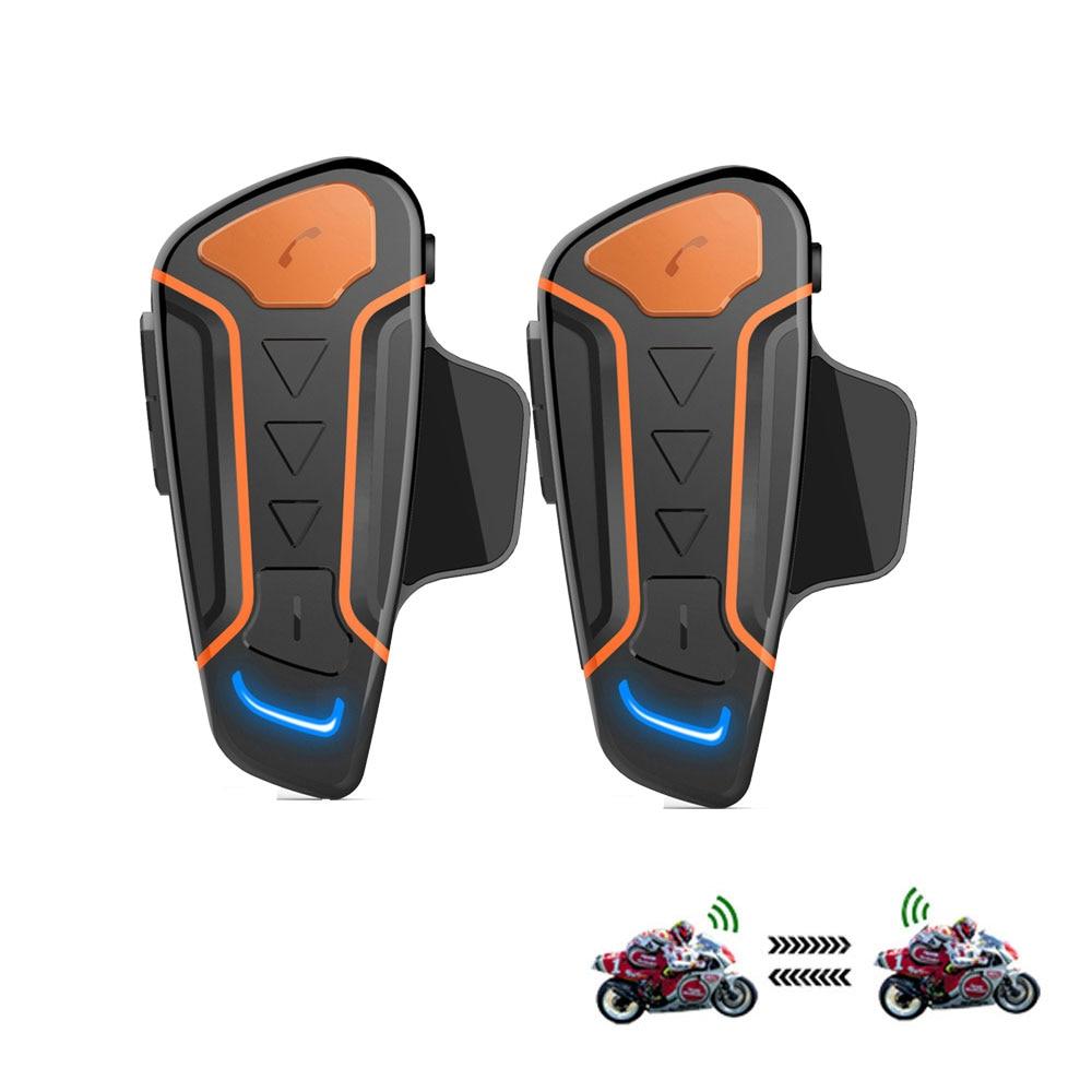 2Pcs Waterproof Motorcycle Helmet Intercom WT003 1000m Moto Bluetooth Interphone Headset With FM  Wireless Helmet Intercom