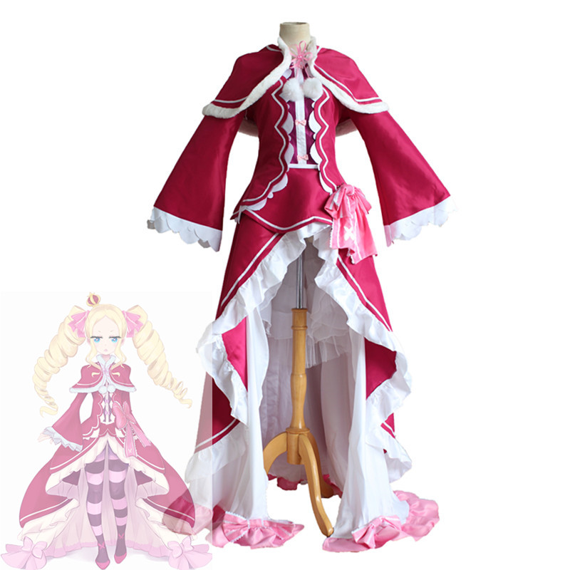 Re Life in a different world from zero Beatrice Cosplay in woman Dresses Costume Ms Evening dress Uniform Suit Outfit Clothes