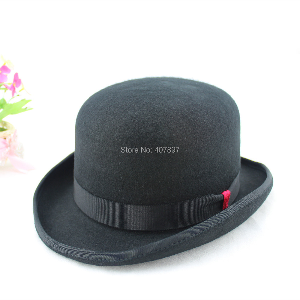 6da72fdca04 Mens Women Classical Black Camel Wool Felt Fedora Bowler Top Hat woolen Hats  For Men Women Wholesale And Retail Free Shipping-in Fedoras from Apparel ...