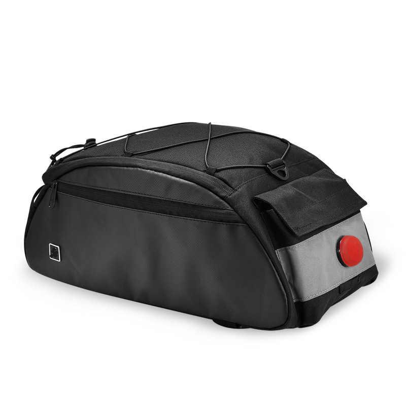 Aokali велосипедная сумка 2019 новый тип внутренняя подкладка большая емкость велосипедная Стойка Сумка Предупреждение лампой безопасный велосипед сумки на мотоцикл