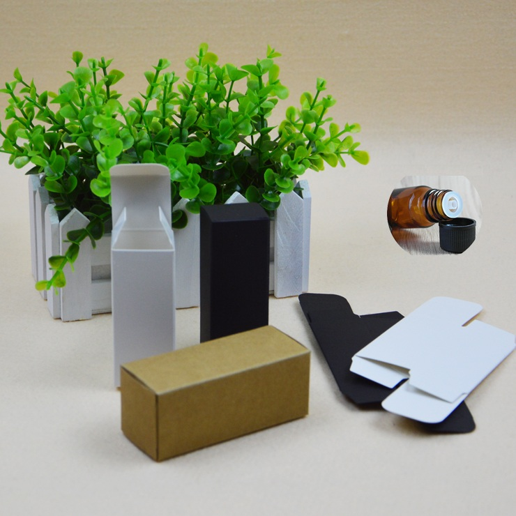50pcs/lot-4.8*4.8*12.4cm 100ml Kraft Paper Essence Oil bottle Storage box Craft Gift Boxes Cosmetics box valve tubes