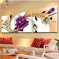 Painting By Numbers Triptych Flowers Diy Diamond Painting Home Decoration Resin Square Drill And Rhinestone Embroidery