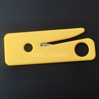 50Pcs Seatbelt Cutter Seat Belt Cutter Safety Knife Yellow Car Rescue Kit Outdoor Survival Tools
