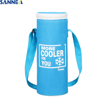 SANNE 2Pcs/lot 1.5L Cooler Bag for Bottle Babys Milk Ice Red Wine Portable Insulated Pack Picnic Oxford