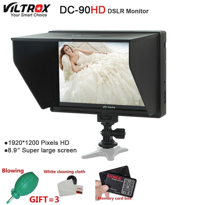 Viltrox DC 90 HD 8,9 ''Супер большой экран 4 K ips lcd HDMI AV вход камера видеомонитор дисплей для Canon Nikon DSLR BMPCC