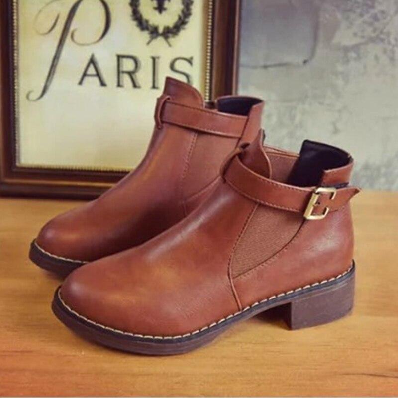 95548bf16 Fivela Do Casuais De Pé Venda Moda Preto Para Mulheres Sapatos Femininos  vermelho Redondo cinza Curtas Saltos ...