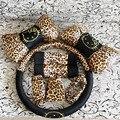 8 шт. Leopard Мультфильм Универсальный Hello Kitty автомобилей чехлы автомобильные Аксессуары интерьера крышка рулевого колеса ремень Безопасности устанавливает