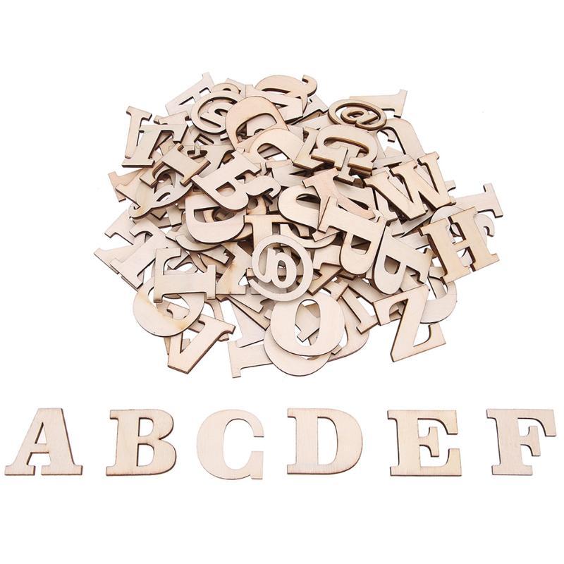 100 шт./лот деревянные буквы английского алфавита раннего образования игрушки Дети буквы познание обучения DIY слова игрушка-головоломка
