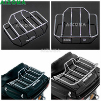 For Harley Road King Touring Street/Road Glide 1984 2017 Chrome Motorcycle Two Up Tour Pak Pack Trunk Holder Rear Luggage Rack