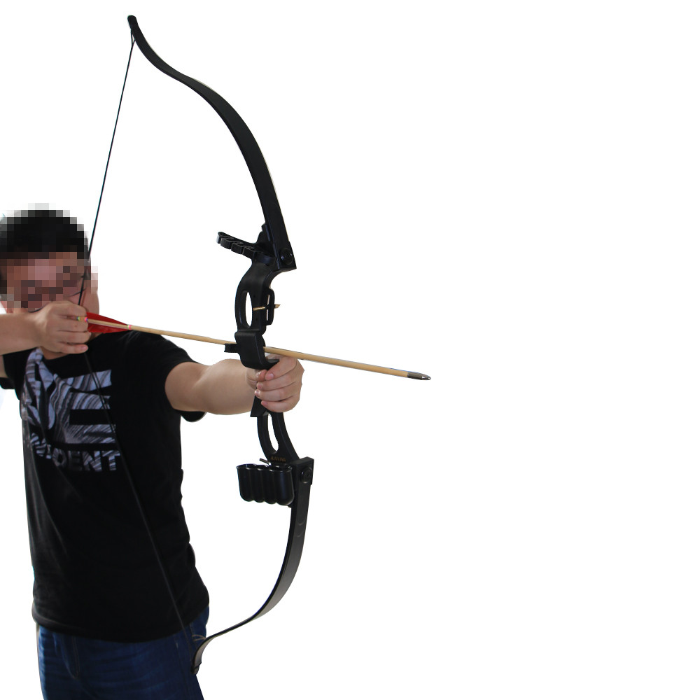 Youth/Beginner Practicing Recurve Take Down Bow 10-20lbs Outdoor Archery Longbow RH with Foam Arrow Tip/Quiver Shooting Hunting dmar archery quiver recurve bow bag arrow holder black high class portable hunting achery accessories
