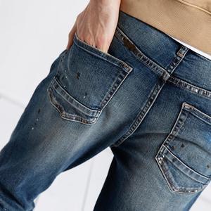 Image 4 - SIMWOOD 2020, pantalones vaqueros a la moda para hombre, pantalones tobilleros de tela vaquera, pantalones ajustados de talla grande, ropa de marca, ropa de calle, Envío Gratis 190021