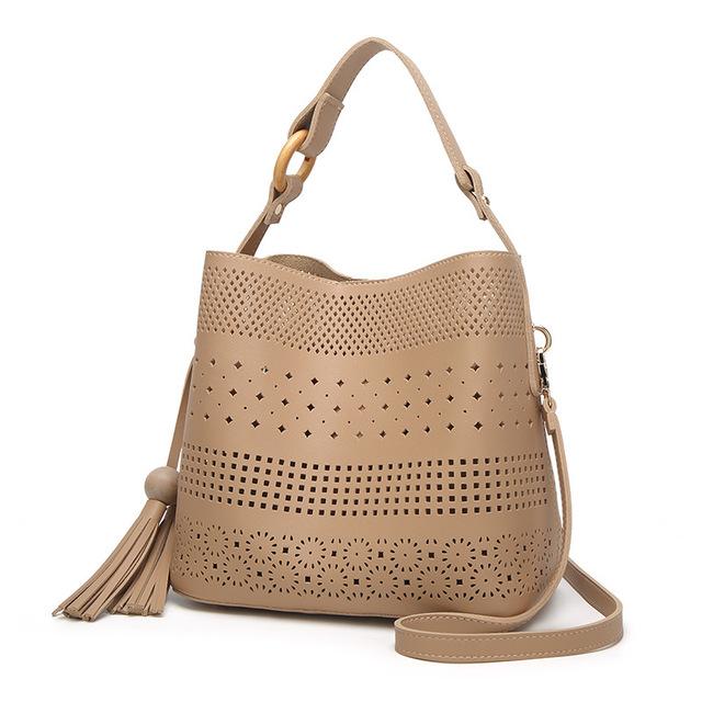 Hollow women handbags famous brands shoulder bags Totes bag large capacity Bohemia female Top-Handle handbag casual 4V9213