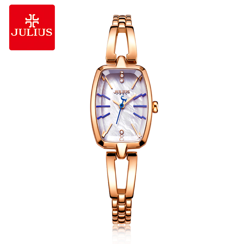 JULIUS Bangle Watch Luxury Women Famous Brands Gold Fashion Design 2017 New Montre Gold Women Stylish Bracelet Relogios JA-903 new fashion famous bs brand full crytal women rose gold watch lady luxury diamond dress watch rhinestone bangle bracelet