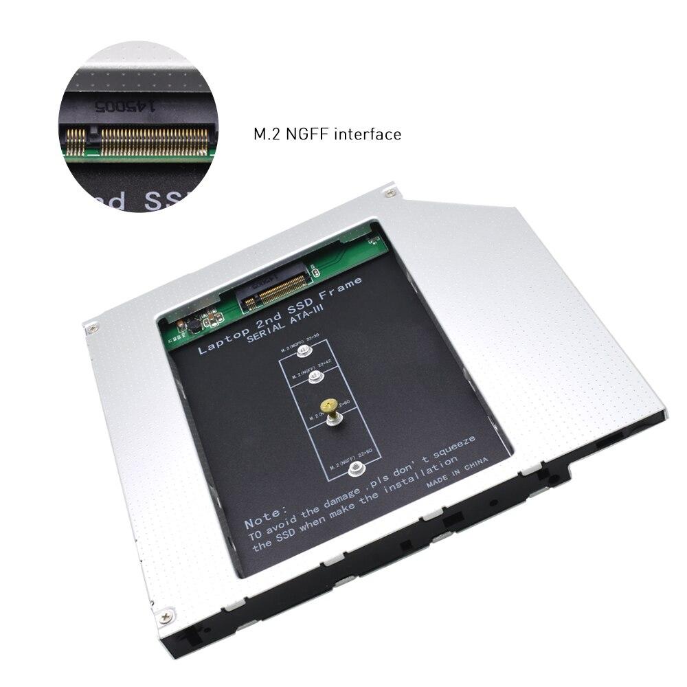 95mm For Cd Odd Notebook Universal Aluminum 2nd Hdd Caddy Sata Harddisk 127mm Aluminium Laptop Tishric Ngff M2 3 Optibay Hard