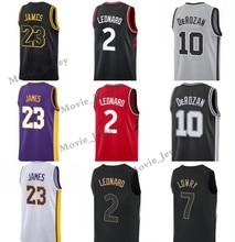 La MaxPa 23 LeBron James 2019 Angeles Lakers 2 Kawhi Leonard 10 Demar  DeRozan 7 Kyle 3973aff2c
