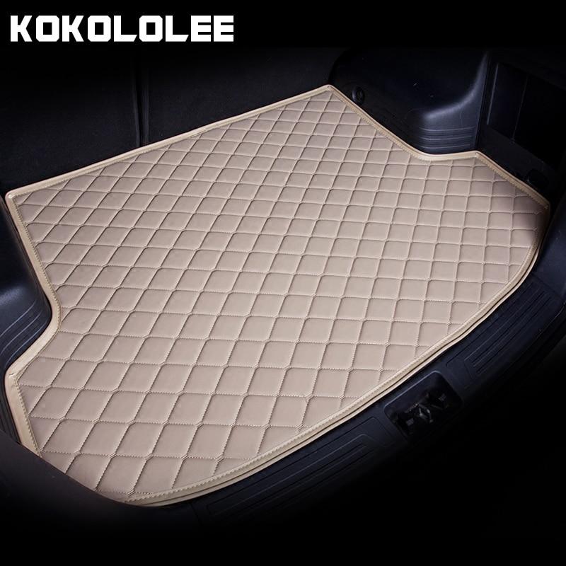 [KOKOLOLEE] Custom Special car Trunk Mats For Audi Q2 Q3 Q5 Q6 A4 A6 Durable Waterproof Leather Luggage Carpets For Audi car mat