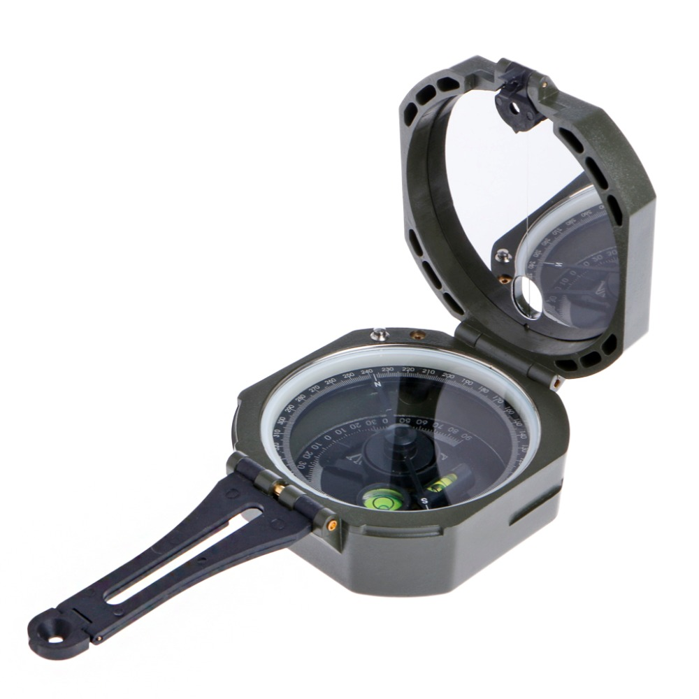 Handheld Type High Precision Magnetic Pocket Transit Geological Compass Scale 0-360 Degrees Outdoor Direction Setting Tool